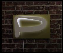 """P"" Neon Sign"